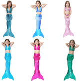 Kids Mermaid Tail Dreiteiliges Set Girls Badeanzug Schnürbikini