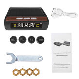 Car TPMS Solar Tire Pressure Monitoring System External English Version with Four Sensors