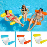 Klemnet Hangmat Opvouwbare Opblaasbare Rugleuning Drijvend Bed Rij Water Play Lounge Chair