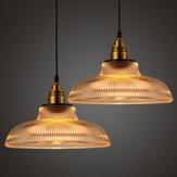 Loft Vintage Antique Industrial Glass Pendant Ceiling Light Retro Bar Lampshade Fixture