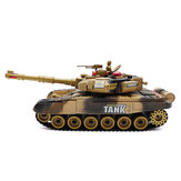 BB638 Plastic 2.4G 10CH RC Tank con Light Sound RC Coche Juguetes