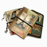 A6 PU Leather Notebook Retro Binder Book Planner Sketching Book Agenda Diary Travel Notebooks Stationery School Office Supplies