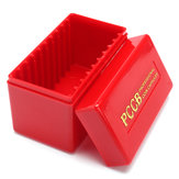 Red Coin Storage Case Box Organizer for 10 Certified Graded PCGS NGC Slab Coin Holder