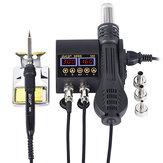 JCD 8898 2 in 1 750W saldatura Riscaldatore ad aria calda per stazione LCD Digital Display Stazione di rilavorazione per saldatura in ferro Soldeirng per telefono cellulare BGA Riparazione PCB SMD
