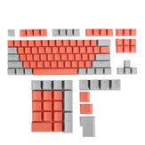 111 tasti Set copritasti arancione e grigio Profilo OEM ABS Copritasti per tastiere Meccanico
