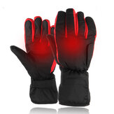 Electric Heated Gloves Hands Warm Winter Warmer Waterproof Black Red Motorcycle