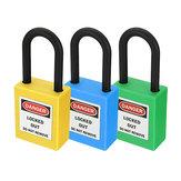 ABS Acciaio serratura Lucchetto per messaggi con trasparenza a forma di lucchetto Imposta lucchetto per l'industria della sicurezza in plastica