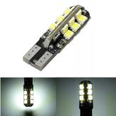 T10 3528 24SMD LED W5W Biała lampa LED do lampki bocznej samochodu