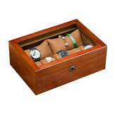 Drewniane pudełko do przechowywania kolekcji biżuterii