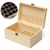 32 Grids Wooden Bottles Box Storage for Essential Oil 5-100ml