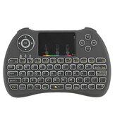 H9 Kablosuz Colorful Arkadan Aydınlatmalı Ajustable Parlaklık 2.4GHz Touchpad Air Mouse Mini Klavye