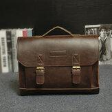 Ανδρική PU Δερμάτινη τσάντα πολλαπλών τσεπών Επαγγελματική τσάντα Φορητή τσάντα ώμου τσάντα