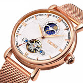 SKMEI 9220 Business Style Automatic Mechanical Watch Full Steel Moon Phase Men Wrist Watch