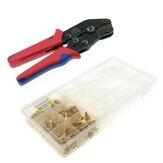 AOQDQDQD® 300Pcs / 600pcs Combinaison de bornes de presse à froid + pinces