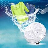 ポータブルミニタービン衣類洗濯機コンパクト超音波洗濯機USBパワード旅行用ホームキャンプアパート寮RVビジネス