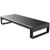 Vaydeer USB 3.0 Aluminiowa podstawa monitora Podstawa laptopa Metal Riser Wsparcie Transfer danych Ładowanie danych