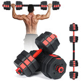 Dumbbell Barbell Set Adjustable Fitness Dumbbells Tone Home Gym Workout 20kg Weight