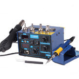 Saike 952D 2 in 1 220V Soldering Station 700W Hot Air Soldering Station Soldering Iron SMD Rework for Welding