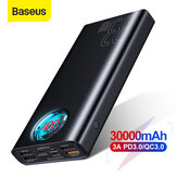 Baseus 30000mAh Power Bank 5 Outputs and 3 Inputs 18W USB-C PD3.0 QC3.0 Fast Charging LED Digital Display External Battery For iPhone 11 SE 2020 For Huawei Xiaomi