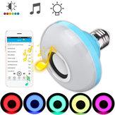 E27 8W bluetooth Speaker RGBW LED Light Bulb Wireless Music Playing Remote Control AC110-240V