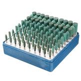 100pcs 3mm / 4mm / 5mm / 7mm / 10mm Rotary Verschiedene Schleifgummi Burr Point Kit für Dremel