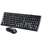 104Keys con cable Teclado y ratón con cable Teclado ratón conjunto combinado con teclado numérico para PC Laatop