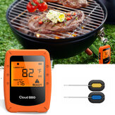 2 sondes Draadloze slimme BBQ-thermometer Oven Vleesvoedsel Bluetooth Wifi voor IOS Android