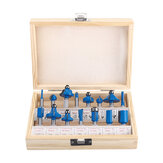 15Pcs Router Bit Set Carbon Milling Cutter 1/4
