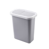 Cabinet Door Hanging Trash Can with Lid Garbage Waste Bin Waste Storage Wastebucket for Office Home Bathroom Kitchen