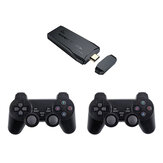 M8 4K HD 10000+ Games Mini Games Stick Video Game Console For SFC PS1 FC GBA Emulator with 2Pcs Wireless Gamepad Controller
