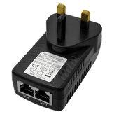 Gigabit POE Güç Kaynağı LAN Ağ Adaptörü Ağ Köprüsü Kablosuz AP POE Kamera için 48V 0.5A