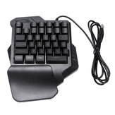 34 Keys One Handed Keyboard Game Mini LED Backlit Ergonomic Single Keypad for LOL/Dota