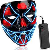 ハロウィンルミナスマスクLED怖いEL-ワイヤーマスクライトアップフェスティバルコスプレコスチューム用品パーティーマスク