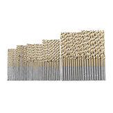 Drillpro 50/60 piezas Juego de brocas helicoidales Brocas individuales 1/16