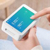 Xiaomi Mijia Probador de calidad del aire Detección de alta precisión Resolución de pantalla de 3.97 pulgadas 800 * 480 Interfaz USB Control remoto Monitoreo TVOC CO2 PM2.5 Medición de temperatura y humedad
