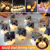 Batterieversorgung Eule LED String Fairy Light DIY Halloween Weihnachtsfeier Home Decor