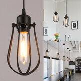 E27 vintage luz de parede retro industrial ferro sombra gaiola teto Pingente luz ac110-220v