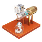 Hot Air Stirling Engine Model Science Toy Physical Principle Metal Model Toys
