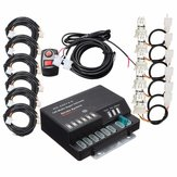 160W 12V 6 HID Bulbs Hide A Way Emergency Hazard Warning Strobe Light System Kit