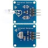 3Pair Mini 38KHz IR Infrarot-Sendermodul + IR Infrarot-Empfängersensormodul Geekcreit für Arduino - Produkte, die mit offiziellen Arduino-Karten funktionieren