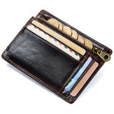 Men RFID Genuine Leather Vintage Cowhide Wallet Card Holder