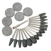 22pcs 3.1mm Shank Rubber Polishing Tips and Disc Kit for Rotary Tool