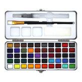Seamiart 50 colori Set pittura ad acquerello Pittura portatile Pigmento ad acquerello per principianti Forniture per il disegno artistico