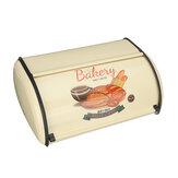 Pan de metal Caja / Papelera / Contenedores de almacenamiento de cocina con tapa enrollable Estantes de escritorio fuera de la superficie 32x20x14cm