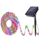 Güneş Enerjisi RGB Işık Şeridi 2835 LED IP65 Su Geçirmez Outdoor Bahçe Ev Dekorasyonu
