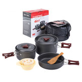 Naturehike NH15T203-G 4 in 1 Picnic Cookware Set Outdoor Portable Camp Tableware For 2-3 Persons