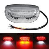 12В мотоцикл LED Задний фонарь Стоп-сигнал Задний фонарь Индикатор номер Пластина Лампа Универсальный
