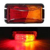 10V-30V 12V / 24V 8 LED Luz do marcador do lado do caminhão de reboque Luz de folga da luz indicadora de mudança de direção para caminhão de caravana