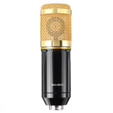 BM800 Condenser Microphone Kit Pro Studio Audio Recording Mic for Live Broadcast for Mobile Phone PC Computer with Stand Shock Mount
