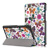 Housse de protection pour tablette Tri-Fold Pringting pour tablette Lenovo Tab M8 - Version papillon